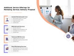 Sales Strategy Consulting Additional Service Offerings For Marketing Services Advisory Proposal Guidelines PDF