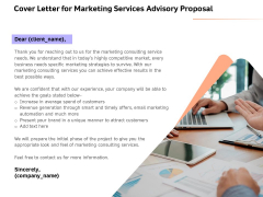 Sales Strategy Consulting Cover Letter For Marketing Services Advisory Proposal Microsoft PDF