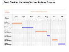 Sales Strategy Consulting Gantt Chart For Marketing Services Advisory Proposal Elements PDF