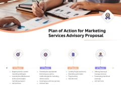 Sales Strategy Consulting Plan Of Action For Marketing Services Advisory Proposal Topics PDF