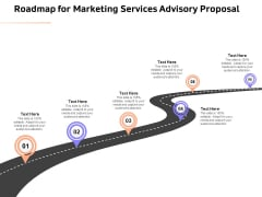 Sales Strategy Consulting Roadmap For Marketing Services Advisory Proposal Slides PDF