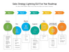 Sales Strategy Lightning GUI Five Year Roadmap Icons