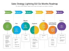 Sales Strategy Lightning GUI Six Months Roadmap Elements