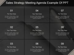Sales Strategy Meeting Agenda Ppt PowerPoint Presentation Deck
