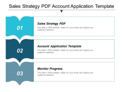 Sales Strategy Pdf Account Application Template Monitor Progress Ppt PowerPoint Presentation Infographic Template Example File