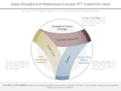 Sales Strengths And Weaknesses Example Ppt Powerpoint Ideas