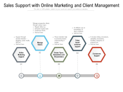 Sales Support With Online Marketing And Client Management Ppt PowerPoint Presentation Portfolio Model