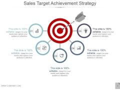 Sales Target Achievement Strategy Ppt PowerPoint Presentation Show