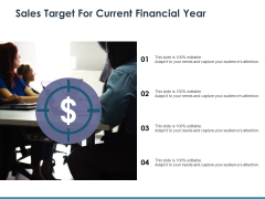 Sales Target For Current Financial Year Ppt PowerPoint Presentation File Professional