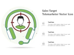 Sales Target Telemarketer Vector Icon Ppt PowerPoint Presentation Icon Infographic Template PDF
