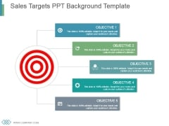 Sales Targets Ppt Background Template