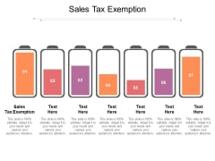 Sales Tax Exemption Ppt PowerPoint Presentation Infographics Cpb Pdf
