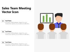 Sales Team Meeting Vector Icon Ppt PowerPoint Presentation Icon Ideas PDF