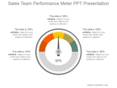 Sales Team Performance Meter Ppt PowerPoint Presentation Diagrams