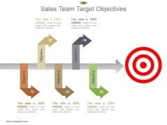 Sales Team Target Objectives Powerpoint Slide Templates