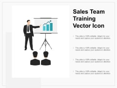 Sales Team Training Vector Icon Ppt PowerPoint Presentation Icon Good