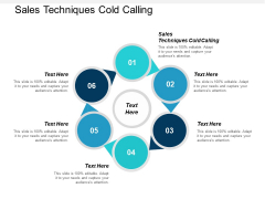 Sales Techniques Cold Calling Ppt PowerPoint Presentation Styles Objects Cpb