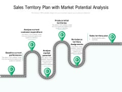 Sales Territory Plan With Market Potential Analysis Ppt PowerPoint Presentation Gallery Guidelines PDF