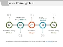 Sales Training Plan Ppt PowerPoint Presentation Icon Graphics