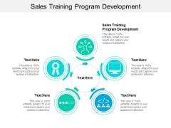 Sales Training Program Development Ppt PowerPoint Presentation Pictures Rules Cpb