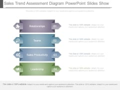 Sales Trend Assessment Diagram Powerpoint Slides Show