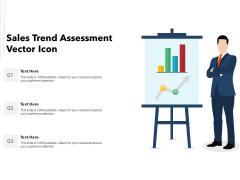Sales Trend Assessment Vector Icon Ppt Powerpoint Presentation Deck Pdf