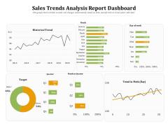 Sales Trends Analysis Report Dashboard Ppt Powerpoint Presentation Icon Portrait Pdf