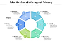 Sales Workflow With Closing And Follow Up Ppt PowerPoint Presentation Show Graphic Tips PDF