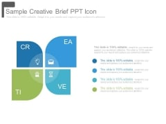 Sample Creative Brief Ppt Icon