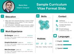 Sample Curriculum Vitae Format Slide Ppt PowerPoint Presentation Model Example PDF