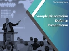 Sample Dissertation Defense Presentation Ppt PowerPoint Presentation Complete Deck With Slides
