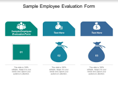 Sample Employee Evaluation Form Ppt PowerPoint Presentation Pictures Deck Cpb