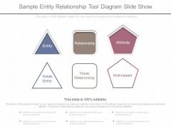Sample Entity Relationship Tool Diagram Slide Show
