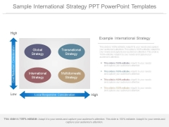 Sample International Strategy Ppt Powerpoint Templates