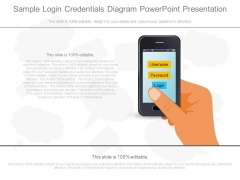 Sample Login Credentials Diagram Powerpoint Presentation