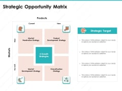 Sample Market Research And Analysis Report Strategic Opportunity Matrix Ppt Professional Styles PDF
