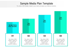 Sample Media Plan Template Ppt PowerPoint Presentation Summary Objects Cpb Pdf