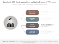 Sample Of B2b Email Append And Validation Diagram Ppt Images