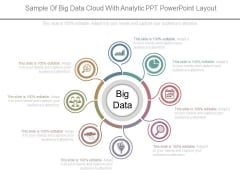 Sample Of Big Data Cloud With Analytic Ppt Powerpoint Layout