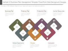 Sample Of Business Plan Management Template Powerpoint Slide Background Designs