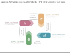 Sample Of Corporate Sustainability Ppt Info Graphic Template