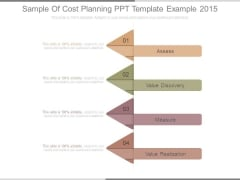 Sample Of Cost Planning Ppt Template Example 2015