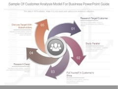 Sample Of Customer Analysis Model For Business Powerpoint Guide