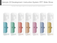 Sample Of Development Instruction System Ppt Slide Show
