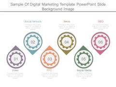 Sample Of Digital Marketing Template Powerpoint Slide Background Image