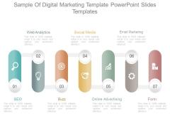 Sample Of Digital Marketing Template Powerpoint Slides Templates