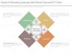 Sample Of Marketing Landscape With Different Channels Ppt Slides