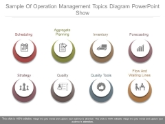 Sample Of Operation Management Topics Diagram Powerpoint Show