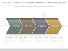 Sample Of Portfolio Evaluation Powerpoint Slide Background