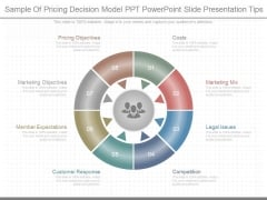 Sample Of Pricing Decision Model Ppt Powerpoint Slide Presentation Tips